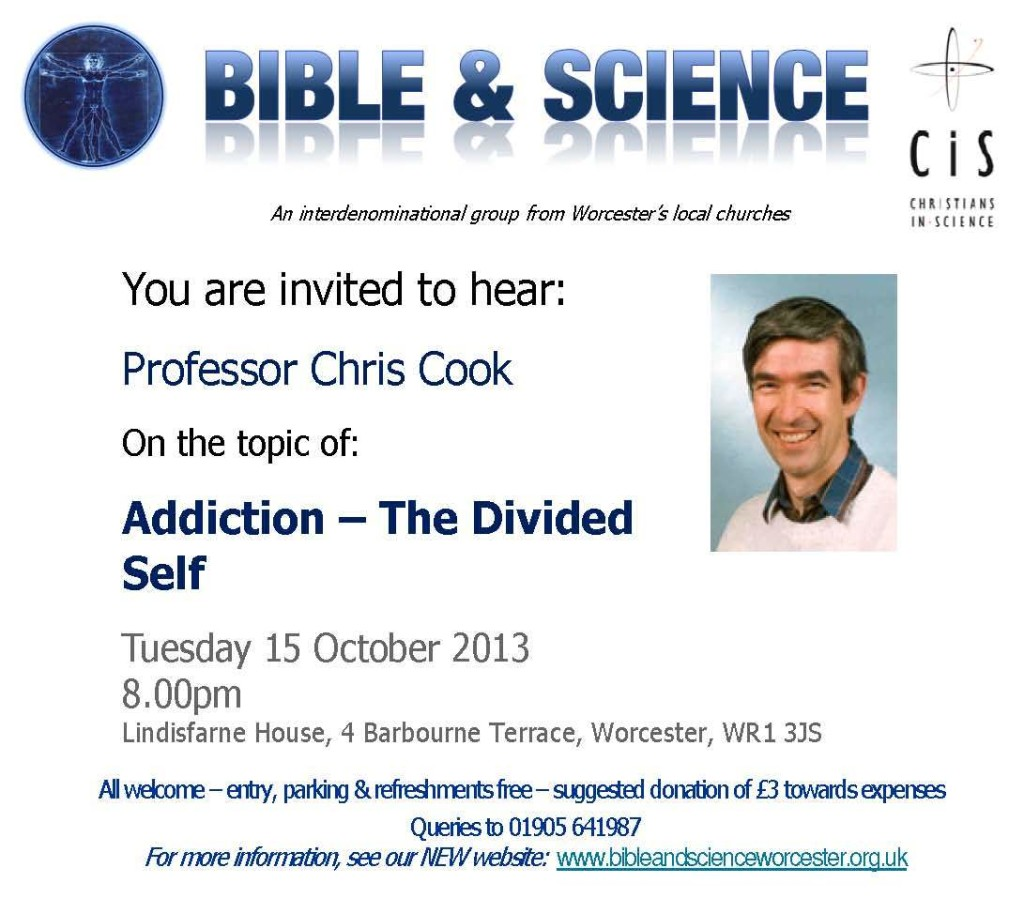 Invitation Summary to Prof Chris Cook