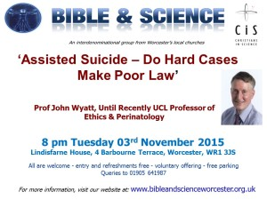 John Wyatt Talk 3rd Nov 2015